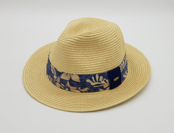 Bermuda Safari Hat with Floral Blue Band