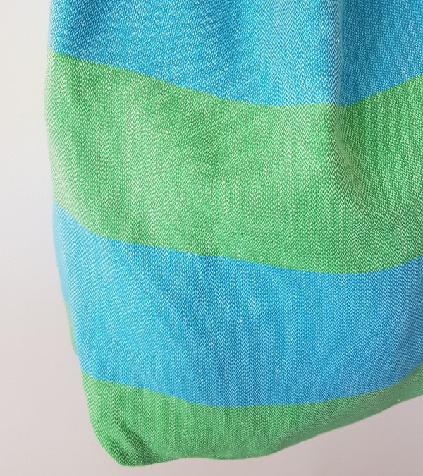 Bodrum Beach Bag - Green & Turquoise