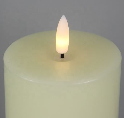 Set of 3 Ivory Flameless LED Candles with remote