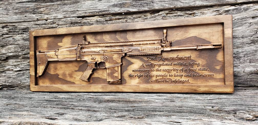 Special Forces Rifle With Second Amendment
