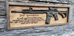 AR-15 Rifle With Second Amendment