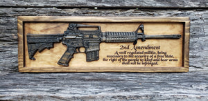 AR-15 Rifle With The Second Amendment