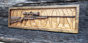 Rifle Name Sign