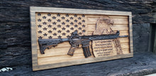 Load image into Gallery viewer, American Flag With AR-15 Rifle, Eagle, & Second Amendment