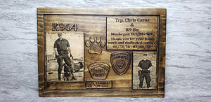 Customizable K-9 Plaque