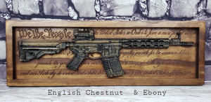 AR-15 Rifle With The U.S. Constitution Behind It