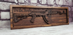 AK-47 With U.S. Constitution