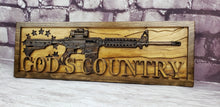 Load image into Gallery viewer, Betsy Ross Flag With AR-15 Rifle And God's Country
