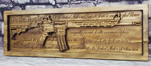 AR-15 Rifle With U.S. Constitution