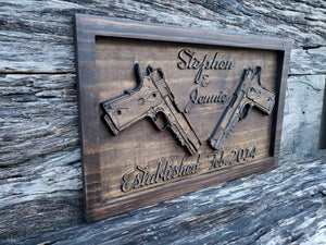 Custom Name Sign With Your Choice Of Guns