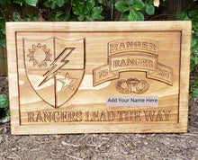 Load image into Gallery viewer, Customizable Army Rangers Sign