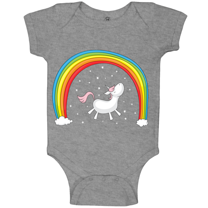 Unicorn Rainbow Baby Body Suit 100% organic cotton