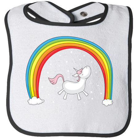 Rainbow Unicorn Baby Bibs