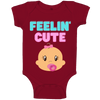 Feeling Cute Baby Body Suit-100% organic cotton vest, baby clothes