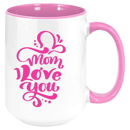 Best Mom Ever Coffee Mug with Colored Inside and Handle