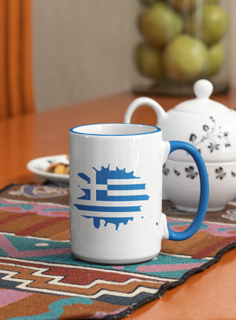 Greek Flag Mug - Coffee Mug