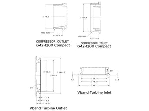 Garrett G42-1200 V-Band Inlet/Outlet 1.28a/r