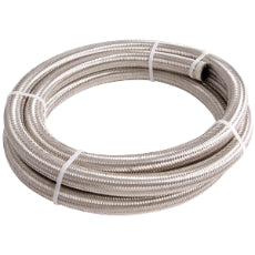 100 Series Stainless Steel Braided Hose -4AN 4.5 Metre Length
