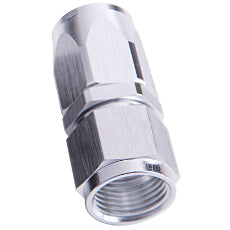 100 / 150 Series Taper Style One Piece Full Flow Swivel Straight Hose End -6AN Silver Finish. Suit 100 & 450 Series Hose