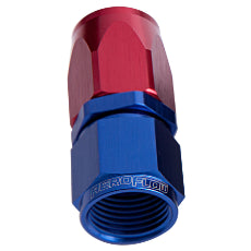 100 / 150 Series Taper Style One Piece Full Flow Swivel Straight Hose End -10AN Blue/Red Finish. Suit 100 & 450 Series Hose