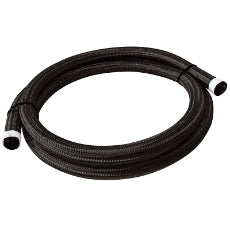 111 Series Black Stainless Steel Braided Cover 15/16'' (24mm) I.D 2 Metre Length