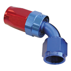 100 Series Taper 60° Swivel Hose End -8AN Blue/Red Finish. Suit 100 & 450 Series Hose