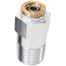 120 Series Straight 1/8'' NPT to 1/4'' Push to Connect Fitting Silver Finish. Suits 120 Series Nylon Hose