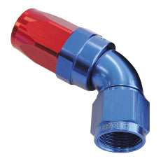150 Series Taper One-Piece Full Flow Swivel 60° Hose End -12AN Blue/Red Finish. Suit 100 & 450 Series Hose