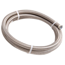 200 Series PTFE (Teflon®) Stainless Steel Braided Hose -6AN 6 Metre Length