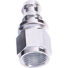 400 / 510 Series Full Flow Push Lock Straight Hose End -10AN Silver Finish. Suits 400 & 500 Series Hose