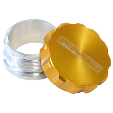 1-1/2'' Billet Aluminium Weld-On Filler with Gold Cap