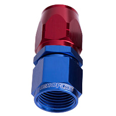 500 / 550 Series Cutter Style One Piece Full Flow Swivel Straight Hose End -10AN Blue/Red Finish. Suits 100 & 450 Series Hose
