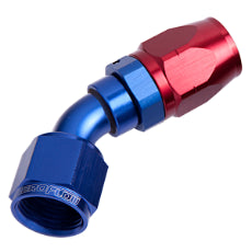 500 Series Cutter Swivel 45° Hose End -16AN Blue/Red Finish. Suits 100 & 450 Series Hose