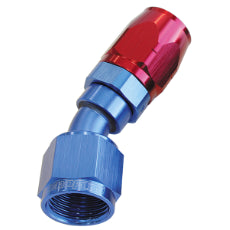 500 Series Cutter Swivel 30° Hose End -6AN Blue/Red Finish. Suits 100 & 450 Series Hose
