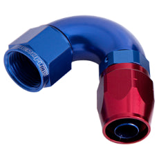 550 Series Cutter One-Piece Full Flow Swivel 120° Hose End -10AN Blue/Red Finish. Suits 100 & 450 Series Hose