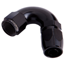 550 Series Cutter One-Piece Full Flow Swivel 120° Hose End -12AN Black Finish. Suits 100 & 450 Series Hose