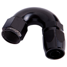 550 Series Cutter One-Piece Full Flow Swivel 150° Hose End -10AN Black Finish. Suits 100 & 450 Series Hose