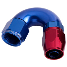550 Series Cutter One-Piece Full Flow Swivel 150° Hose End -10AN Blue/Red Finish. Suits 100 & 450 Series Hose