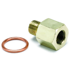 Oil Pressure Metric Adapter Brass female 1/8'' NPT fitting to M10x1 male thread.