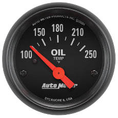 Z-Series Oil Temperature Gauge 2-1/16'', Short Sweep Electric, 100-250°F