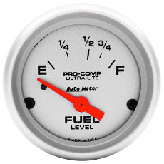 Ultra-Lite Series Fuel Level Gauge 2-1/16'', Short Sweep Electric, Ford, 73 ohms Empty/8-12 ohms Full