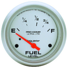 Ultra-Lite Series Fuel Level Gauge 2-5/8'', Short Sweep Electric, Ford, 73 ohms Empty/8-12 ohms Full