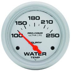 Ultra-Lite Series Water Temperature Gauge 2-5/8'', Short Sweep Electric, 100-250°F