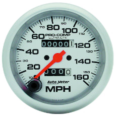 Ultra-Lite Series Speedometer 3-3/8'', In-Dash, Mechanical, 0-160 mph