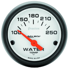 Phantom Series Water Temperature Gauge 2-1/16'', Short Sweep Electric, 100-250°F