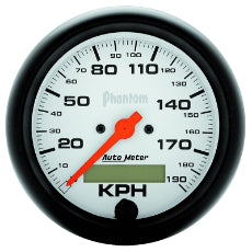 Phantom Series Speedometer 3-3/8'', In-Dash, Electrical, Programmable, 0-190 km/h