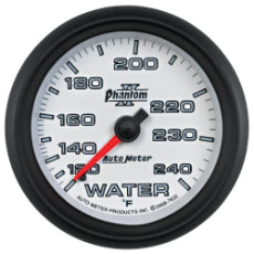 Phantom II Series Water Temperature Gauge 2-5/8'', Full Sweep Mechanical, 120-240°F