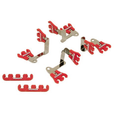 Show Car Spark Plug Lead Separators, 7-9mm, RedSuit SB Chev