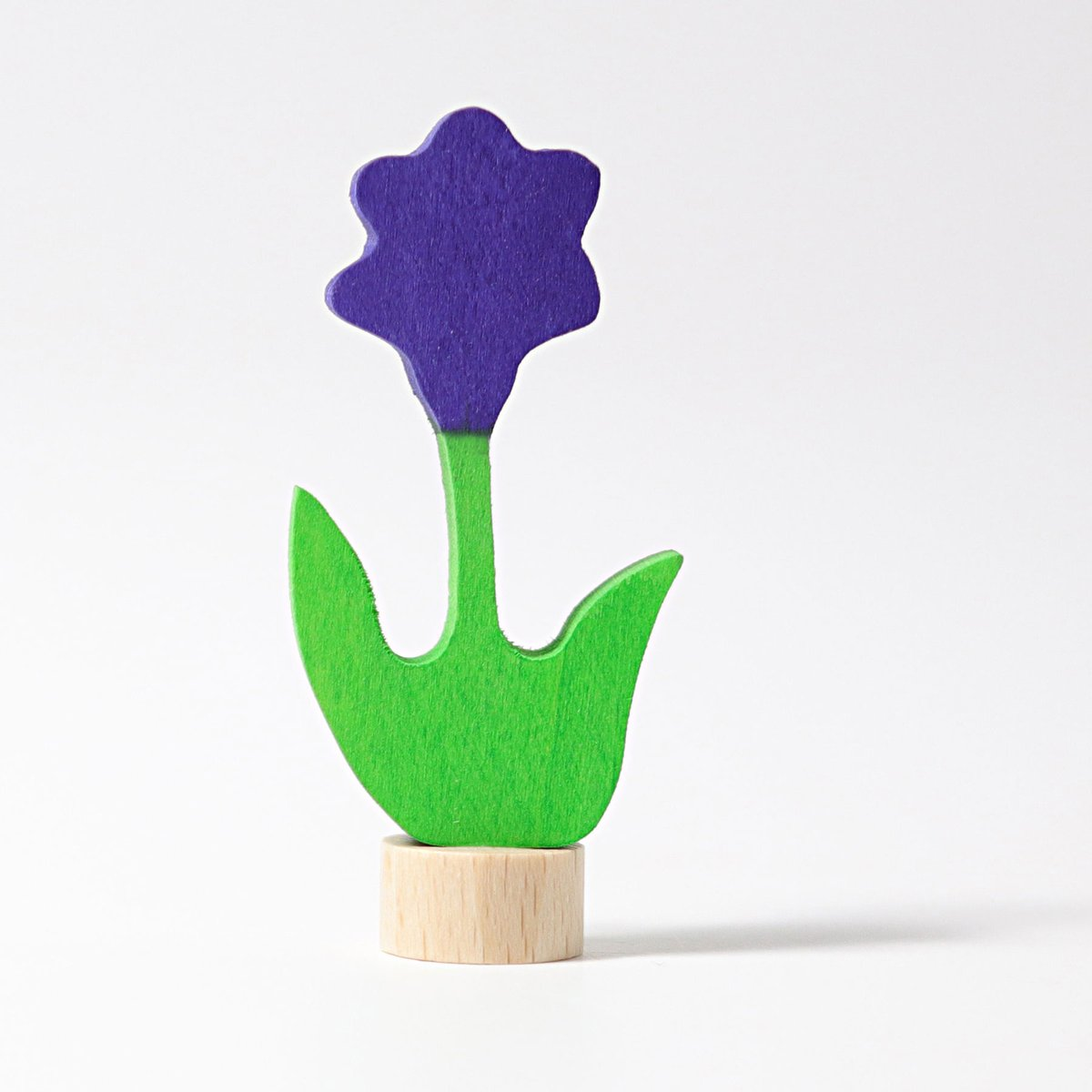 Grimm's Candle Holder Decoration-Purple Flower