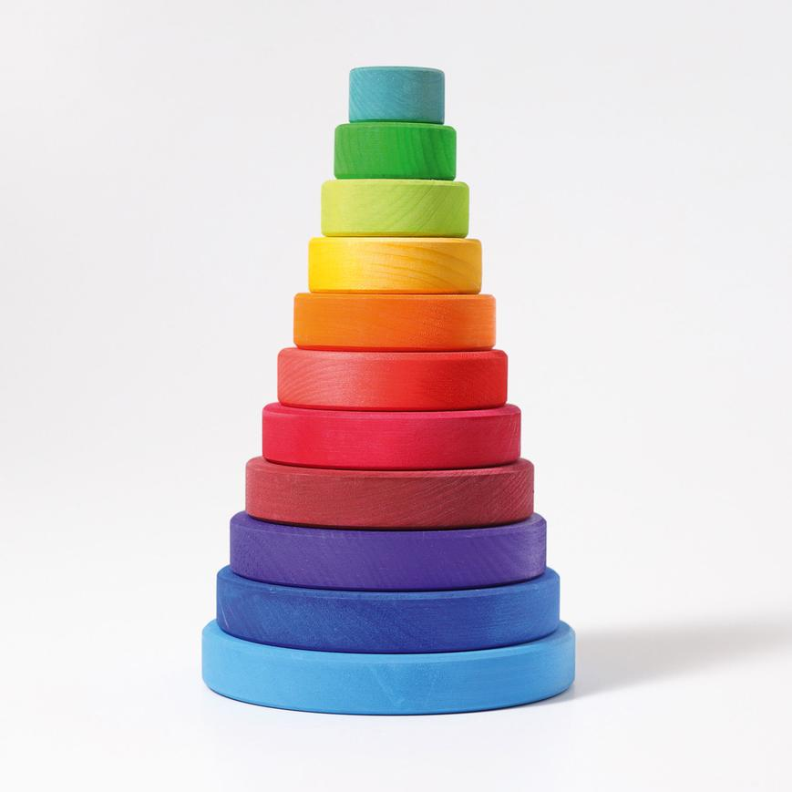 Grimm's Stacking Conical Tower Rainbow Large